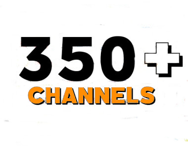 350+ LIVE TV CHANNELS